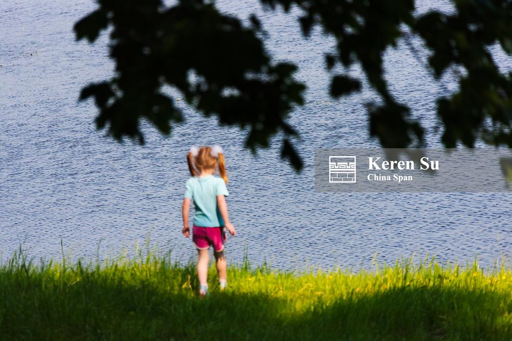 Girl by the Neman River, Nesvizh, Mnsk Province, Belarus