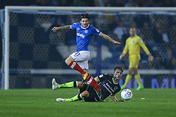 Matty Kennedy of Portsmouth tackles Joe Partington of Bristol Rovers - Mandatory by-line: Jason Brown/JMP - 26/09/2017 - FOOTBALL - Fratton Park - Portsmouth, England - Portsmouth v Bristol Rovers - Sky Bet League One
