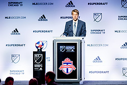 January 11, 2019 - Chicago, IL, U.S. - CHICAGO, IL - JANUARY 11: Griffin Dorsey is selected as the number six overall pick to Toronto FC in the first round of the MLS SuperDraft on January 11, 2019, at McCormick Place in Chicago, IL. (Photo by Patrick Gorski/Icon Sportswire) (Credit Image: © Patrick Gorski/Icon SMI via ZUMA Press)