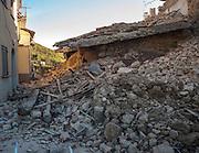 Castelluccio di Norcia. Macerie dopo il terremoto <br /> 30 ottobre  2016 . Daniele Stefanini /  OneShot