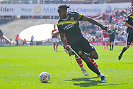 Omar Beckles of Shrewsbury Town (6) in action during the EFL Sky Bet League 1 match between Barnsley and Shrewsbury Town at Oakwell, Barnsley, England on 19 April 2019.