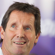 Australian coach Robbie Deans at the teams press conference at Takapuna Beach, Auckland, durimng the IRB Rugby World Cup tournament, Auckland, New Zealand, 17th October 2011. Photo Tim Clayton...