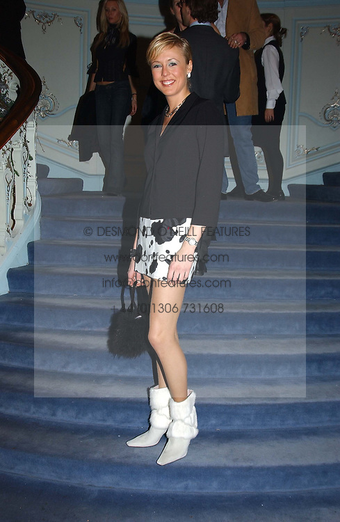LADY ALEXANDRA SPENCER-CHURCHILL at jewellers Tiffany's Christmas party held at The Savile Club, 69 Brook Street, London on 14th December 2004.<br /><br />NON EXCLUSIVE - WORLD RIGHTS
