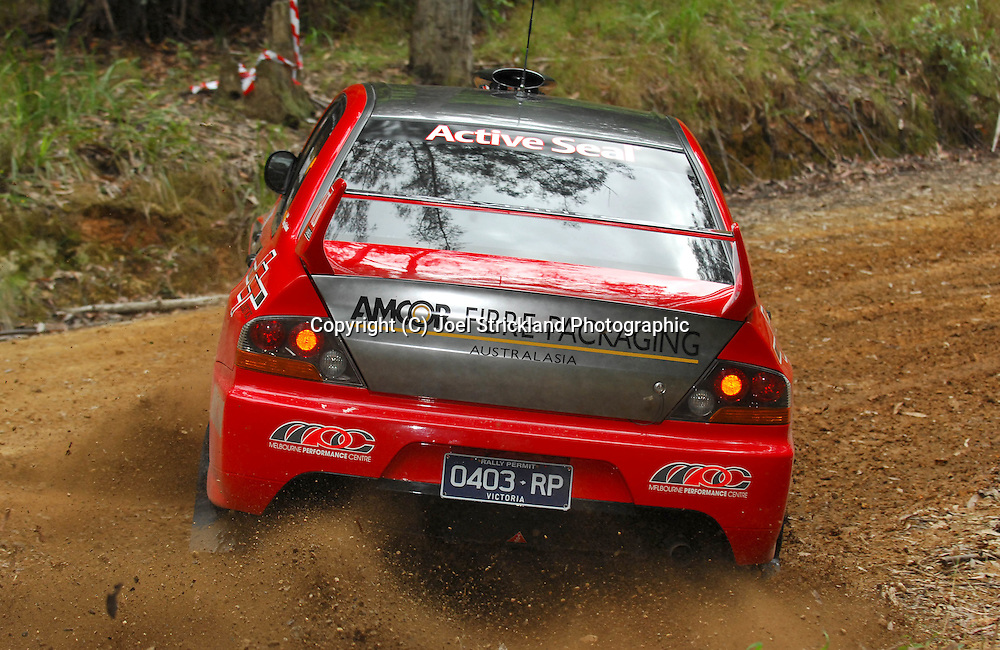 Justin Dowel & Matt Lee.Motorsport-Rally/2008 Coffs Coast Rally.Shakedown, Bucca Rd, .Coffs Harbour, NSW.14th of November 2008.(C) Joel Strickland Photographics
