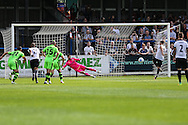 Ricky Miller scores a penalty, 2-1 during the Vanarama National League match between Dover Athletic and Forest Green Rovers at Crabble Athletic Ground, Dover, United Kingdom on 10 September 2016. Photo by Shane Healey.