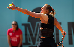 May 3, 2019 - Madrid, MADRID, SPAIN - Kaia Kanepi of Estonia in action during qualifications at the 2019 Mutua Madrid Open WTA Premier Mandatory tennis tournament (Credit Image: © AFP7 via ZUMA Wire)