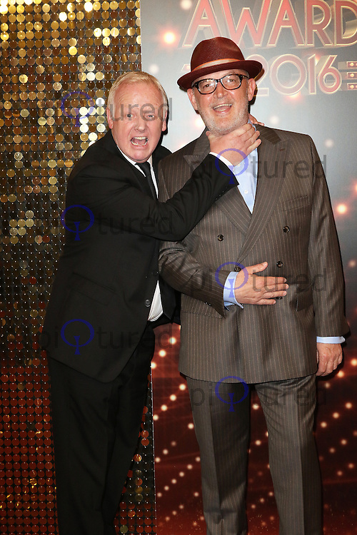 Les Dennis, Connor McIntyre, The British Soap Awards, Hackney Town Hall, London UK, 28 May 2016, Photo by Richard Goldschmidt