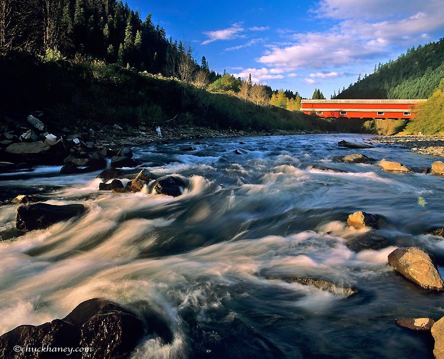 Office Covered Bridge longest in Oregon at 180 ft near Westfir, Oregon