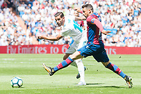 Real Madrid's XXX and Levante's Pedro Lopez during La Liga match between Real Madrid and Levante UD at Santiago Bernabeu Stadium in Madrid, Spain September 09, 2017. (ALTERPHOTOS/Borja B.Hojas)