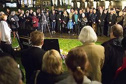 © Licensed to London News Pictures. 21/11/2016. Birmingham, UK. A service of prayer to mark the deaths of 21 people killed in the Birmingham Pub bombings on the 42nd anniversary. A large crowd had gathered outside the Cathedral. credit: Dave Warren/LNP