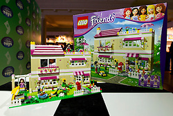 © Licensed to London News Pictures. 31/10/2012. London, UK. A Lego Friends 'Olivias House' (RRP GB£69.99) is seen at a Toy Retailers Association (TRA) fair in London today (31/10/12) as the organisation released its 13 Dream Toys for Christmas 2012. Photo credit: Matt Cetti-Roberts/LNP