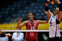 07-11-2010 VOLLEYBAL: WORLD CHAMPIONSHIP: PERU - KOREA: TOKYO<br /> Korea beat Peru with 3-1 / Karla Ortiz<br /> ©2010-WWW.FOTOHOOGENDOORN.NL