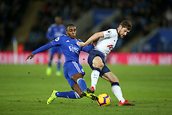 Leicester City's Ricardo Pereira (left) and Tottenham Hotspur's Ben Davies during the Premier League match at the King Power Stadium, Leicester.