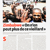 USE ARROWS ← → on your keyboard to navigate this slide-show<br /> <br /> Le Vif- Belgian news magazine  <br /> Feature concerning the political crisis in Zimbabwe, published in March 2008.<br /> Photo: Ezequiel Scagnetti<br /> Text: François Janne d'Othée
