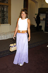 AMBER NUTTALL at a charity event 'In The Pink' a night of music and fashion in aid of the Breast Cancer Haven in association with fashion designer Catherine Walker held at the Cadogan Hall, Sloane Terrace, London on 20th June 2005.<br /><br />NON EXCLUSIVE - WORLD RIGHTS