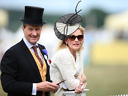Racegoers enjoying the action during day one of Royal Ascot at Ascot Racecourse.