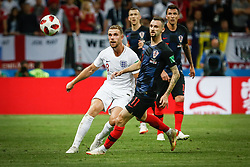 July 11, 2018 - Moscow, Vazio, Russia - Jordan HENDERSON of England and Marcelo BROZOVIC of Croatia during match between England and Croatia valid for the semi-final of the 2018 World Cup, held at the Lujniki Stadium in Moscow, Russia. Croatia wins 2-1. (Credit Image: © Thiago Bernardes/Pacific Press via ZUMA Wire)