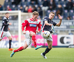 Brechin City's Ryan Ferguson and Falkirk's Will Vaulks.<br /> Falkirk 2 v 1 Brechin City, Scottish Cup fifth round game played today at The Falkirk Stadium.