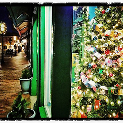 """Christmas on Market Street, Portsmouth, New Hampshire. iPhone photo - file size is adequate for print reproduction up to 8"""" x 12""""."""