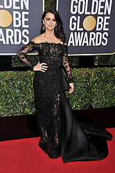 Penélope Cruz at the 75th Golden Globe Awards held at the Beverly Hilton in Beverly Hills, CA on January 7, 2018.<br /><br />(Photo by Sthanlee Mirador)