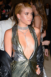 Sofia Richie arriving at The Metropolitan Museum of Art Costume Institute Benefit celebrating the opening of Rei Kawakubo / Comme des Garcons : Art of the In-Between held at The Metropolitan Museum of Art  in New York, NY, on May 1, 2017. (Photo by Anthony Behar) *** Please Use Credit from Credit Field ***