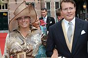 His highness prince Pieter-Christiaan of Oranje Nassau, of Vollenhoven and Ms drs. A.T. van Eijk get married  in the Great or St Jeroens Church in Noordwijk. <br /> <br /> <br /> Zijne Hoogheid Prins Pieter-Christiaan van Oranje-Nassau, van Vollenhoven en mevrouw drs. A.T. van Eijk treden in het (kerkelijk) huwelijk in de Grote St. Jeroenskerk in Noordwijk<br /> <br /> On the photo/Op de foto:<br /> <br /> <br /> <br /> Zijne Koninklijke Hoogheid Prins Constantijn der Nederlanden <br /> Hare Koninklijke Hoogheid Prinses Laurentien der Nederlanden<br /> <br /> His royal highness prince Constantijn of the The Netherlands her royal highness princess Laurentien of the The Netherlands