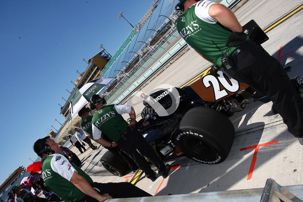 OCTOBER 1: IZOD IndyCar driver Ed Carpenter at Homestead-Miami Speedway