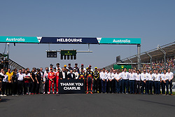 March 17, 2019 - Albert Park, VIC, U.S. - ALBERT PARK, VIC - MARCH 17: Driver photo and a special tribute to Charlie Whiting at The Australian Formula One Grand Prix on March 17, 2019, at The Melbourne Grand Prix Circuit in Albert Park, Australia. (Photo by Speed Media/Icon Sportswire) (Credit Image: © Steven Markham/Icon SMI via ZUMA Press)