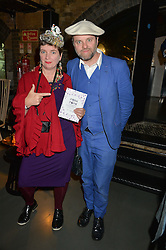 GAVIN TURK and his wife DEBORAH CURTIS at Fork to Fork - a Fundraising Feast to support The Open Air Classroom Project held at The Dock Kitchen, Portobello Docks, 342-344 Ladbroke Grove, London on 19th May 2015.