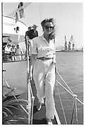 BLAINE TRUMP, Party in the harbour on Rupert Murdoch's yacht.  Forbes weekend, TANGIER 1989