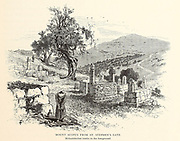 Mount Scoupus from St. Stephen's Gate, Jerusalem. from the book Picturesque Palestine, Sinai, and Egypt By  Colonel Wilson, Charles William, Sir, 1836-1905. Published in New York by D. Appleton and Company in 1881  with engravings in steel and wood from original Drawings by Harry Fenn and J. D. Woodward Volume 1