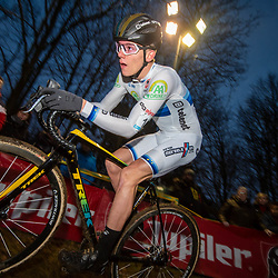 2019-12-29: Cycling: Superprestige: Diegem: Thibau Nay gaining his fourth win