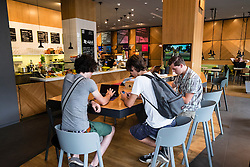 new Microsoft Digital Eatery cafe on Unter den Linden in Berlin Germany