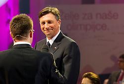 President of Slovenia Borut Pahor during presentation of Team Slovenia for Sochi 2014 Winter Olympic Games on January 22, 2014 in Grand Hotel Union, Ljubljana, Slovenia. Photo by Vid Ponikvar / Sportida