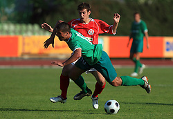 Amir Karic of Olimpija and Boban Jovic  at final match of 2nd SNL league between NK Olimpija in NK Aluminij, on May 23, 2009, ZAK, Ljubljana, Slovenia. Aluminij won 2:1. NK Olimpija is a Champion of 2nd SNL and thus qualified to 1st Slovenian football league for season 2009/2010. (Photo by Vid Ponikvar / Sportida)
