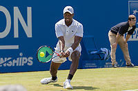 Tennis - 2017 Aegon Championships [Queen's Club Championship] - Day Three, Wednesday<br /> <br /> Men's Singles, Round of 16 -Viktor TROICKI (SRB) Vs Donald YOUNG (USA)<br /> <br /> <br /> Donald Young (USA) in action on centre court at Queens club <br /> <br /> COLORSPORT/DANIEL BEARHAM