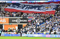 Football - 2018 / 2019 Premier League - Cardiff City vs. Leicester City<br /> <br /> Leicester fans with giant thai flag tribute in Leicster's 1st match since the death of Vichai Srivaddhanaprabha, at Cardiff City Stadium.<br /> <br /> COLORSPORT/WINSTON BYNORTH