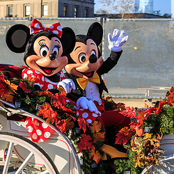 Mickey and Minnie Mouse in the Phildelphia Thanksgiving Day parade.