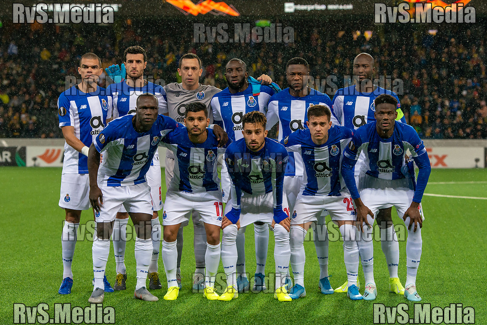 BERN, SWITZERLAND - NOVEMBER 28: Team FC Porto players pose for team photo during the UEFA Europa League group G match between BSC Young Boys and FC Porto at Stade de Suisse, Wankdorf on November 28, 2019 in Bern, Switzerland. (Photo by Monika Majer/RvS.Media)