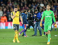 Arsenal's Olivoer Giroud looks on dejected at the final whisle during the Premier League match at Selhurst Park Stadium, London. Picture date: April 10th, 2017. Pic credit should read: David Klein/Sportimage