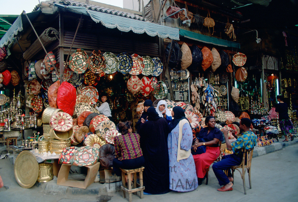 Shoppers in the Souk in Cairo, Egypt
