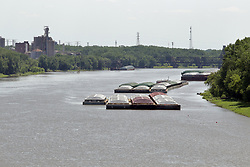 Tugboats and barges