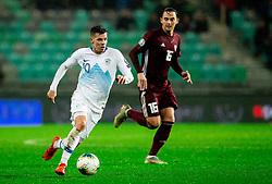 Miha Zajc of Slovenia during the 2020 UEFA European Championships group G qualifying match between Slovenia and Latvia at SRC Stozice on November 19, 2019 in Ljubljana, Slovenia. Photo by Vid Ponikvar / Sportida