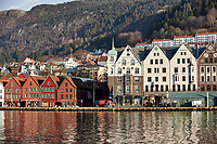 Historic Bergen from across the harbor. Four of seven images taken with a Nikon 1 V2 camera and 10-30 mm lens(ISO 200, 30 mm, f/5.6, 1/1000 sec).