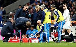 Edoardo Gori of Italy receives treatment for an injury - Mandatory by-line: Robbie Stephenson/JMP - 26/02/2017 - RUGBY - Twickenham Stadium - London, England - England v Italy - RBS 6 Nations round three