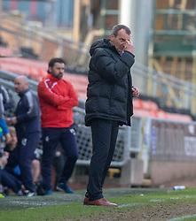 Dundee United's manager Csaba Laszlo. Dundee United 1 v 0 Falkirk, Scottish Championship played 14/4/2018 at Dundee United's stadium Tannadice Park.