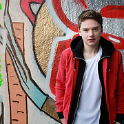 """Brighton born singer-songwriter Conor Maynard, on set of filming his debut music video for debut release """"Can't Say No""""."""