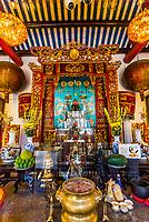 Altar,  Quang Trieu Cantonese Assembly Hall, Hoi An, Vietnam.