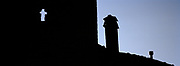 Chimney and Cross Silhouette