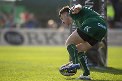 March 2, 2019 - Galway, Ireland - Tom Farrell of Connacht scores a try during the Guinness PRO 14 match  between Connacht Rugby and Ospreys at the Sportsground in Galway, Ireland on March 2, 2019  (Credit Image: © Andrew Surma/NurPhoto via ZUMA Press)